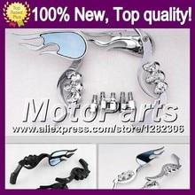 Ghost Skull Mirrors For HONDA VFR400RR NC35 94-98 VFR400 RR VFR 400RR RVF 400 RR 94 95 96 97 98 Skeleton Rearview Side Mirror