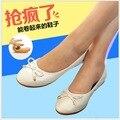 Очень мягкие плоские туфли женщины 2016 популярные мокасин роковой комфортно карьера дамы плоские туфли сладкий балетки обувь B1