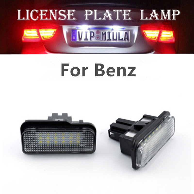 For Benz W203 W211 W219 R171 LED Car Truck License Plate Tag Lights Lamps 1pair