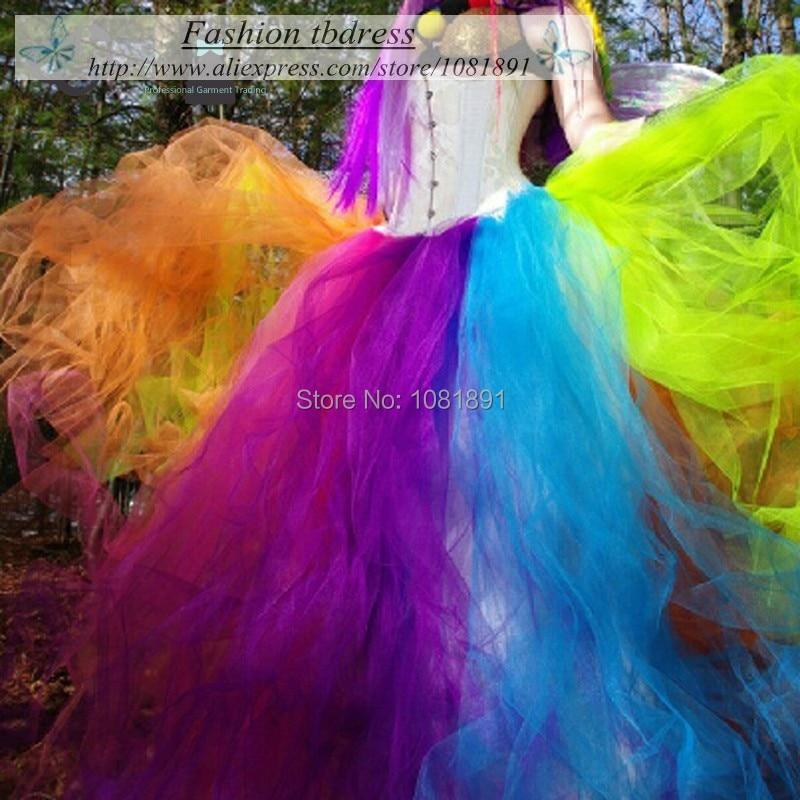 2995a3ba5 Adult Rainbow Tutu Skirt In Floor Women Tulle Long Skirt Halloween ...
