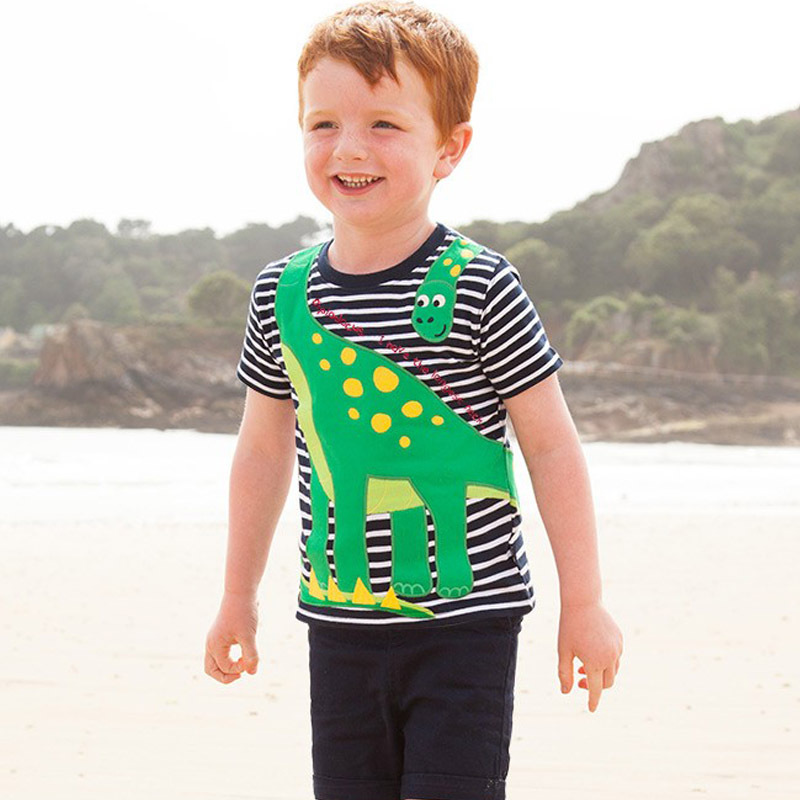 T-shirts for baby boys cotton summer dress kids tales short sleeve boy clothing children clothes T shirt cartoon dress T-shirts