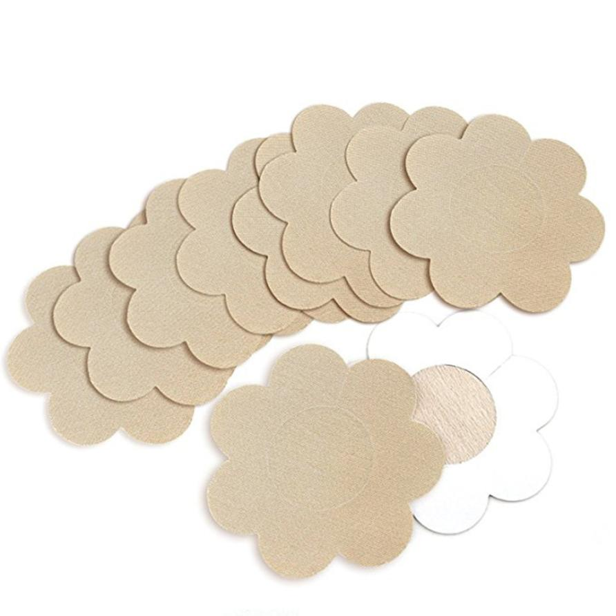 10Pairs Nipple Covers Sexy Breast Pasties Stick On Bra Petal Tops Disposable 2u102