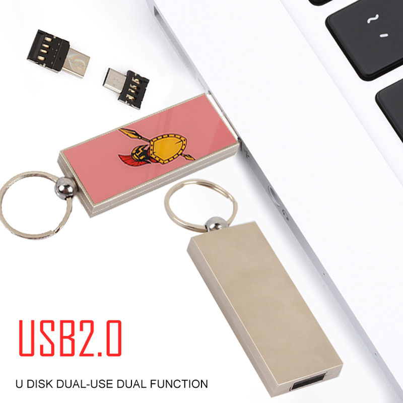 USB Flash Drive Memory Stick Memory Keychain Vehicle USB2.0 Data Transfer Computer 32/64GB with Micro USB/Type-C Adapter ...
