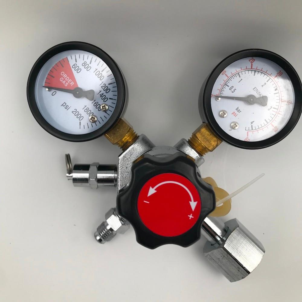 CO2 Gauge Regulator Homebrew CO2 Regulator, 0~2000psi, 0~60psi, with 1/4MFL W21.8