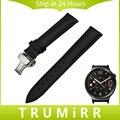 18mm pulseira de couro genuíno para huawei watch/fit honor s1 asus zenwatch 2 mulheres wi502q borboleta fecho alça de pulso pulseira cinto