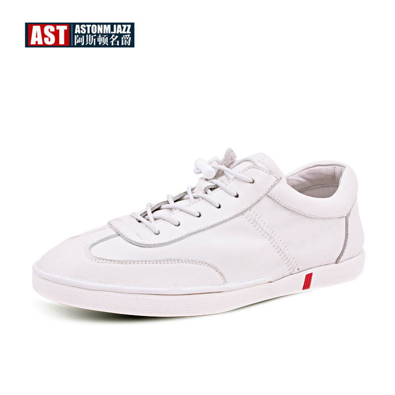 HOT! Trendy Mens Lace Up Soft Genuine Leather Casual Shoes Boys Students White Leather Shoes Oxfords Fashion Sneakers us 6 10 trendy mens lace up soft genuine leather sneaker shoes boys students casual outdoor white leather shoes