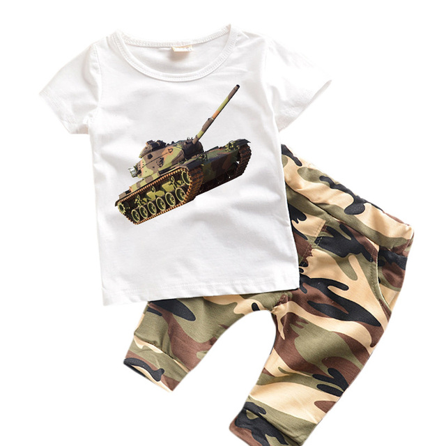 0-6 years Kids Clothes Summer Boys Clothes Set  Kids Suits  Camouflage Toddler Clothing Sets for Children Fashion TY01