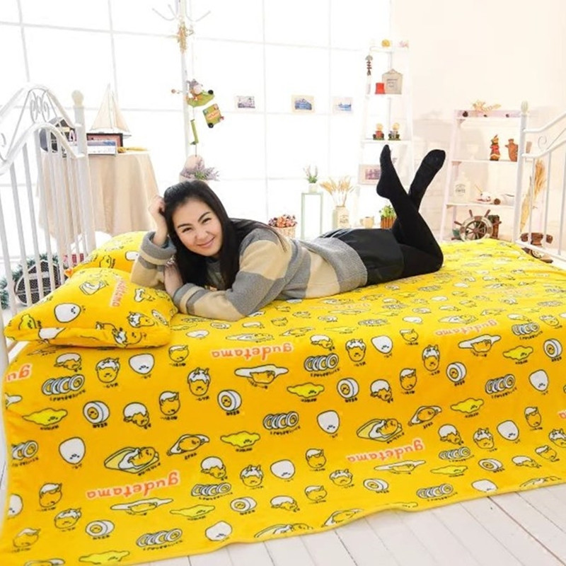 Cartoon yolk brother, gudetama, lazy Egg flannel blankets, air conditioning blanket, birthday gifts, Christmas gifts