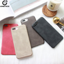 ONEYES Leather Original Phone Case For iphone 7 8 6 6s Plus Cover Luxury Soft smartphone X Coque for capa