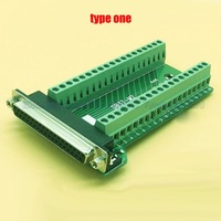 Female Parallel 2 Rows 37 Pins DB37 Serial Port Turn To Wire Terminals DR37 Female Socket
