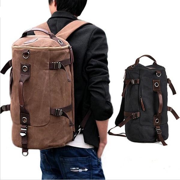 Mens Casual Vintage Canvas Backpack  Rucksack school Satchel bag Back Pack XK03Mens Casual Vintage Canvas Backpack  Rucksack school Satchel bag Back Pack XK03