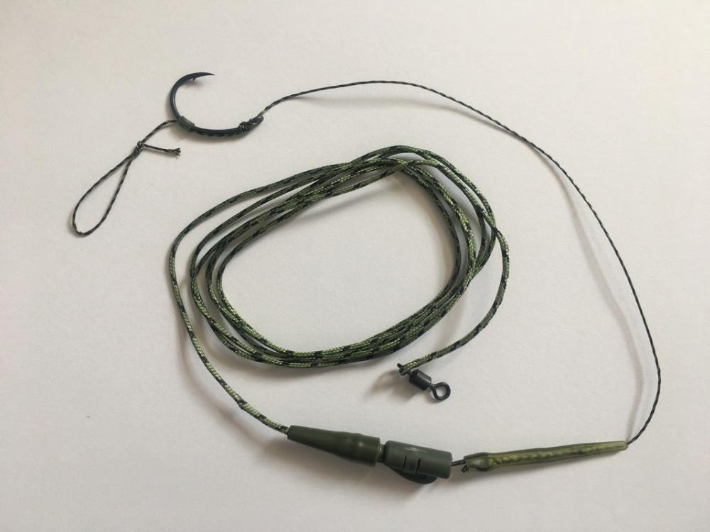 5 X GREEN WIDE GAPE TEFLON HOOKS CARP HAIR RIGS SIZE 8 /& 6 /& 12mm boilie screw