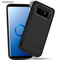 JINXINGCHENG Battery Charger Case for Samsung Galaxy S9 Plus Back Clip Battery Wireless Fast Charger For Samsung S9 PLUS 6000mah