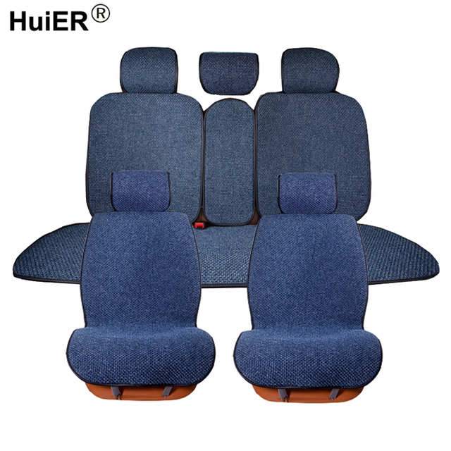 HuiER Flax 4 Seasons Universal Car Seat Cover 6 Colors Non slip Car ...