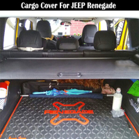 Rear Cargo Cover For JEEP Renegade 2016 2017 2018 2019 privacy Trunk Screen Security Shield shade Auto Accessories