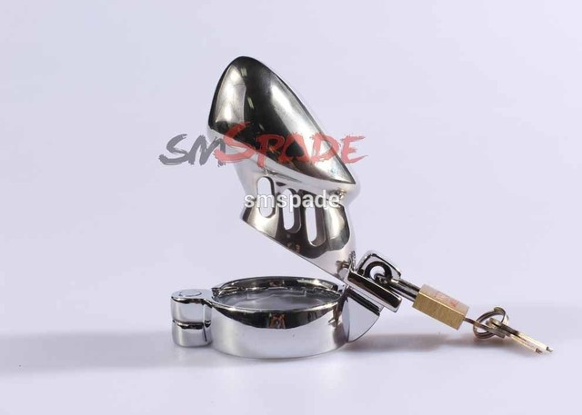 Free Shipping Stainless Steel Male Chastity Cage with Two Sizes of Bottom Rings' Lock to Keep Him Obedient cock ring in Sex Life