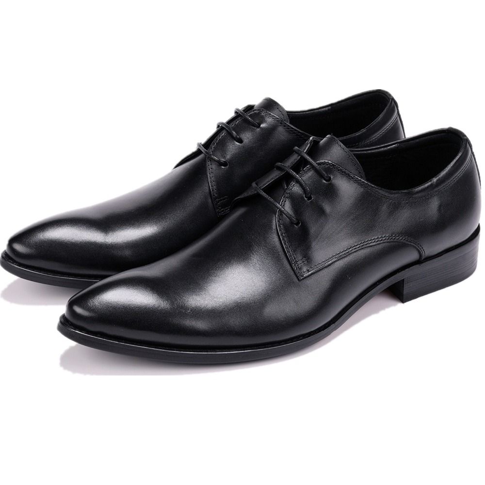 Fashion Derby Prom Shoes Mens Dress Shoes Genuine Leather Business Shoes Male Formal Wedding Groom ShoesFashion Derby Prom Shoes Mens Dress Shoes Genuine Leather Business Shoes Male Formal Wedding Groom Shoes