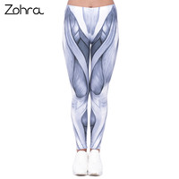 Zohra הגעה חדשה נשים צועד חותלות אופנה גבוהה מותן הדפסת קווים אפורים מכנסיים אישה רזה