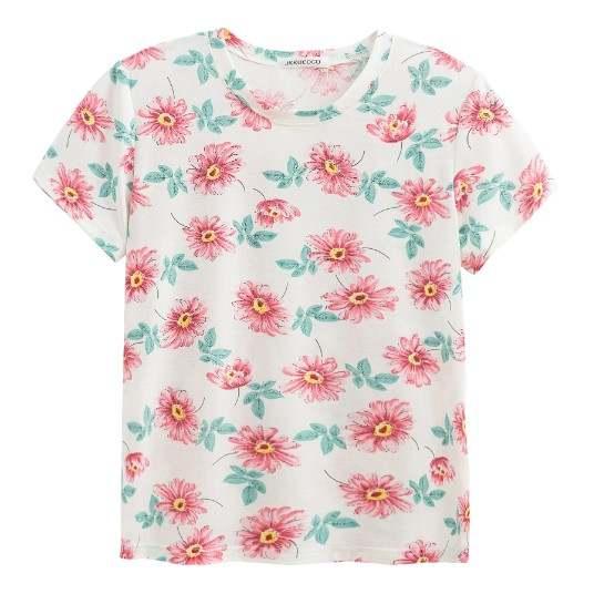 pink flower shirt