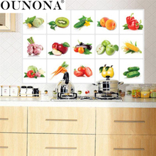 Fruit Kitchen Stickers Anti Oil Paste Waterproof Removable Wall Stickers  Decals Wallpaper Tile Home Decor