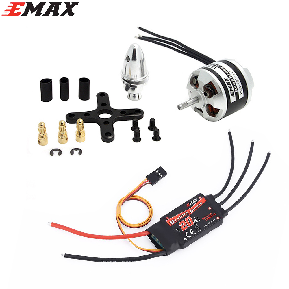 Original EMAX XA2212 KV820 / KV980 / KV1400 Brushless Motor With Emax Simonk 20A ESC for  F450 F550 RC Quadcopter пылесборник для сухой уборки euro clean e 07