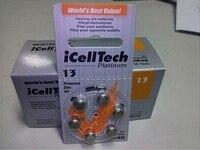60pcs iCellTech High Performance Hearing Aid Batteries Zinc Air battery 13/A13/PR48 Battery for BTE Hearing aids