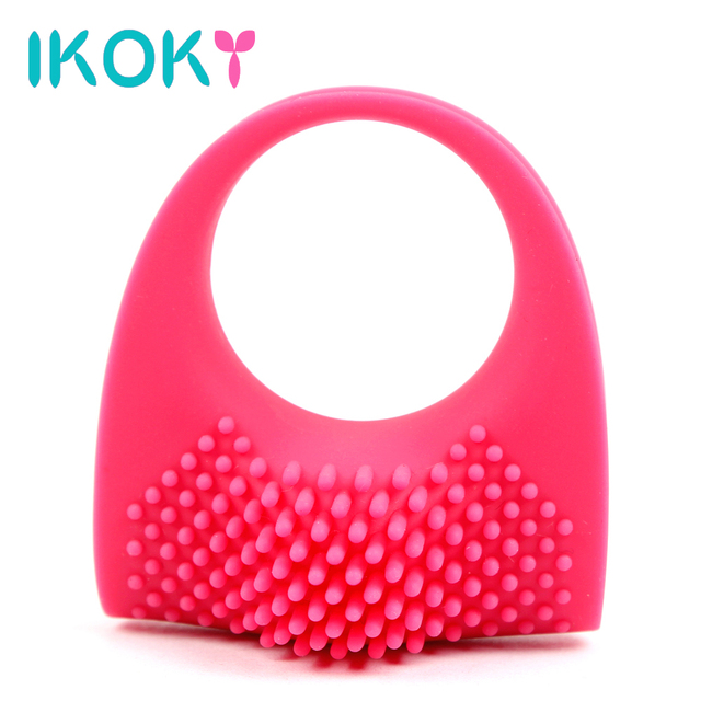 IKOKY Lasting Penis Rings Vibrator Ring Cock Ring Sex Toys for Men Male Waterproof Vibrator Ring Delay Ejaculation Silicone