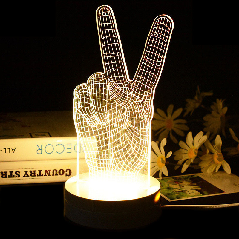 3d yes gesture mood lamp table lamps kids art deco lamp luminaria 3d yes gesture mood lamp table lamps kids art deco lamp luminaria modern table lamp baby night light for bedroom christmas gift in led table lamps from aloadofball Images
