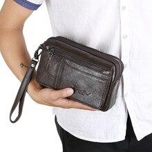 f91ee39602edf الرجال خمر الأزياء الأعمال حقيبة صغيرة اليد حقيبة محفظة الهاتف حقائب الخصر  أكياس محفظة حقائب(