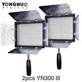 2PCS YONGNUO YN300 III YN-300 III CRI95 3200K-5500K LED Video Light with Barndoor led Panel