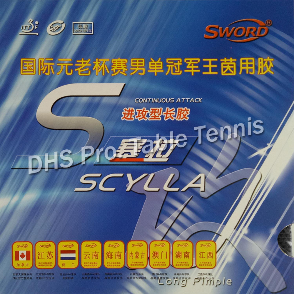 Sword SCYLLA  Long Pips-out Table Tennis Top Sheet Rubber Without Sponge