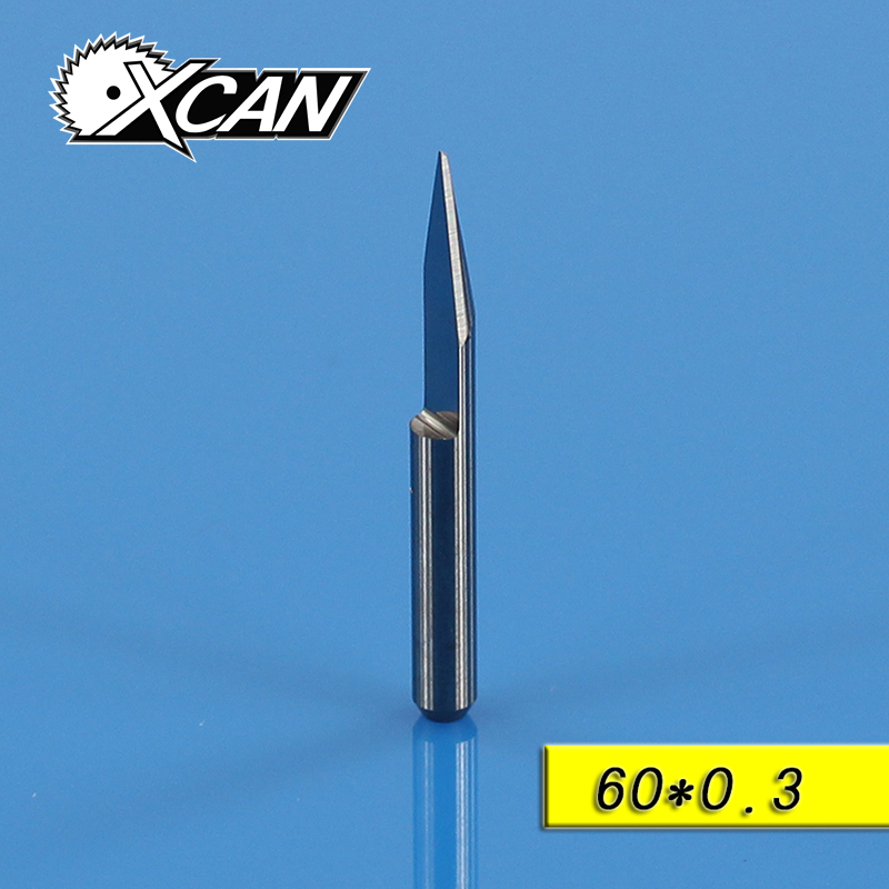 10x3.175mm Carbide PCB Engraving Bits CNC Router Tool 60 Degree 0.3mm free shipping