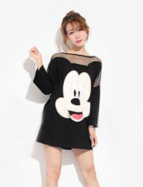 2016 Fashion Plus Size Vestidos Mesh Minnie Mouse Dress Women Casual ...