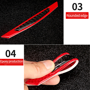 Image 5 - Car  5D Carbon Fiber Sticker Super reflective Stickers Decals Auto Reflective Strip Warning Car Styling Automobiles Accessories