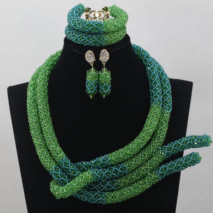 Wholesale Nigerian Beaded Necklaces Sets Nice Wedding Beads Set Handmade Item Wholesale Free Shipping hx244 wholesale