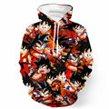 Garoto Caráter Mulheres Hoodies E Moletons Anime Dragon Ball Z Goku Roupas Com Capuz Suam Tops Estilo Harajuku Pulôver das Mulheres