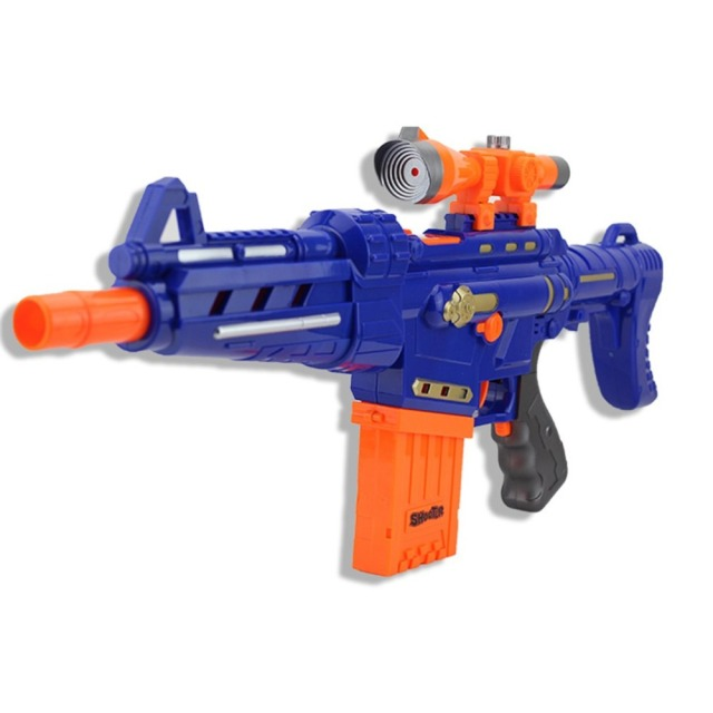 Electric Soft Bullet Gun Suit For Nerf Gun Serial Shoot Target Toy Gun  Children Plastic Rifle