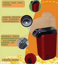 DMWD Mini Household Healthy Hot Air Oil-free automatic Popcorn Maker Red Corn Popper For Home Kitchen children