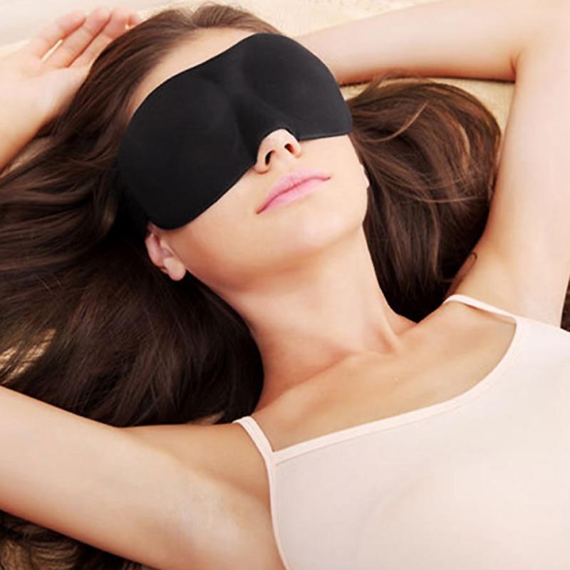 3D Sleep Mask Natural Sleeping Eye Mask Eyeshade Cover Shade Eye Patch Soft Portable Blindfold Travel Eyepatch eye cover Goggles 2