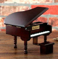 Творческий Деревянный Пианино Заводной Music Box Винтаж коробка свадебный сувенир подарочной коробке подарки на день рождения для любителей Д...