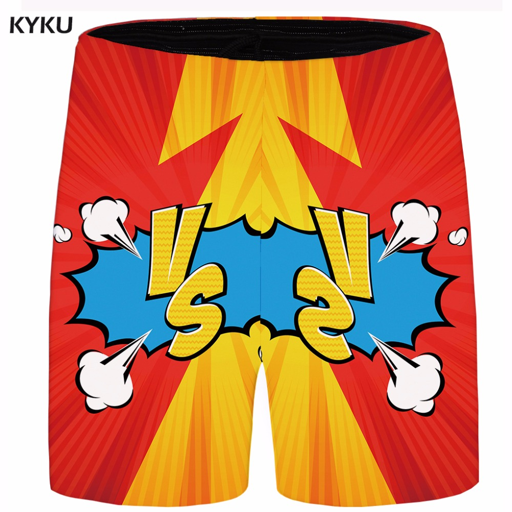 KYKU Brand Cartoon Short Men Cloud Cargo Shorts War Red Casual Shorts Beach Mens Short 2018 New Summer Male Fashion Plus Size