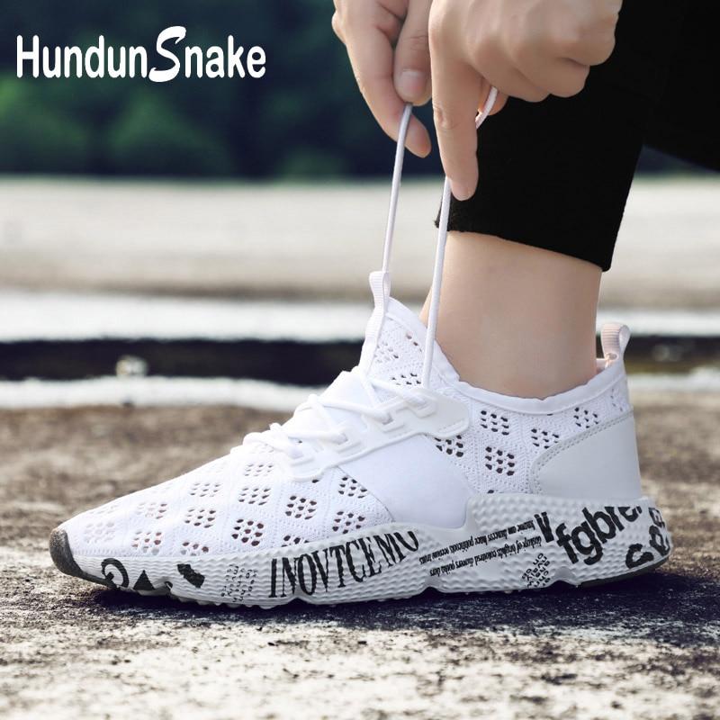 3a15769b5f Hundunsnake Tamanho Grande Tênis de Corrida Para Os Homens Brancos Tênis  Esportivos Para Homens Esporte Sapatos Masculinos Athletic Shoes Formação  Krasovki ...