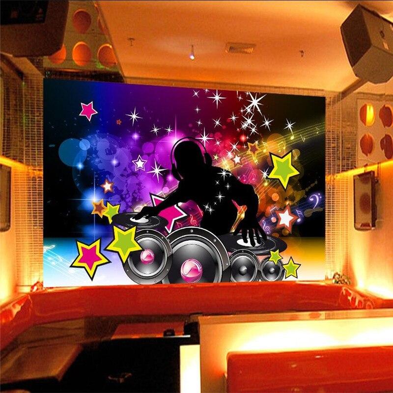 Wall Decor Paper 3d Music Dance Sound Bar Ktv Disco
