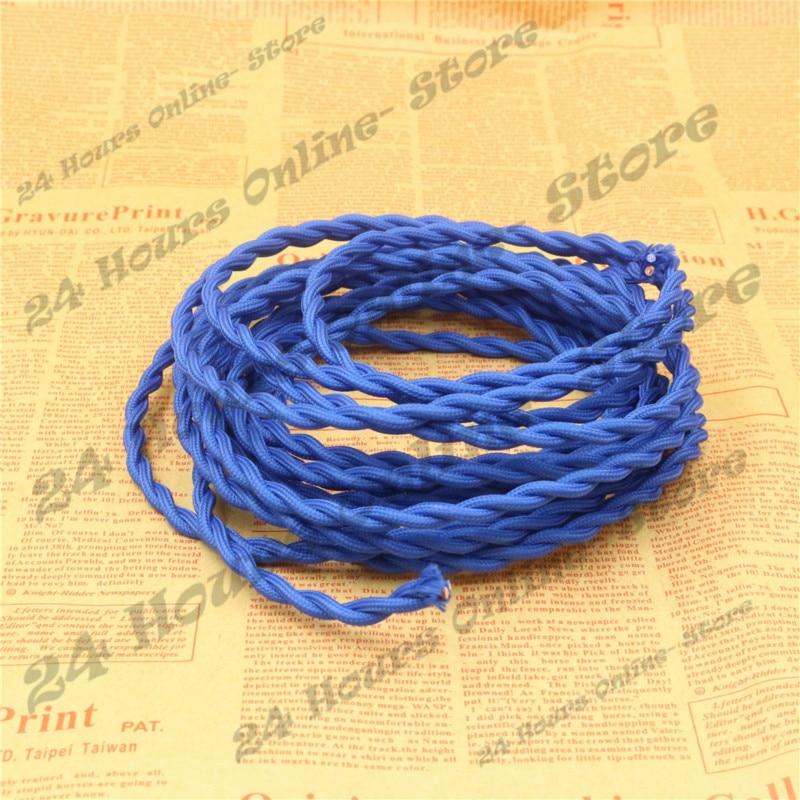 Blaue Farbe 5 mt/los 2x0,75 Vintage seil Verdreht Kabel Retro ...