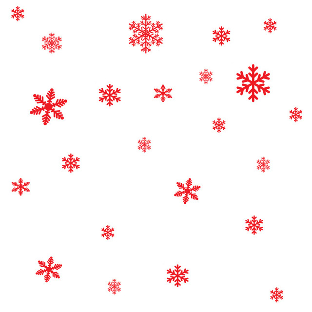 27Pcs/Lot Christmas Snowflake Window Sticker Winter Wall Stickers Kids Room Christmas Decorations for Home New Year Stickers 5