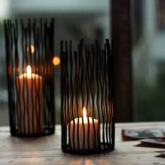 fashion modern wrought iron dining table mousse decoration romantic wedding props floor candle table