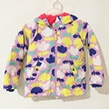 Winter jackets for girls Print Flower Thickened Cotton Coats with hooded Waterproof Windbreaker To Kids 2-8 Yrs