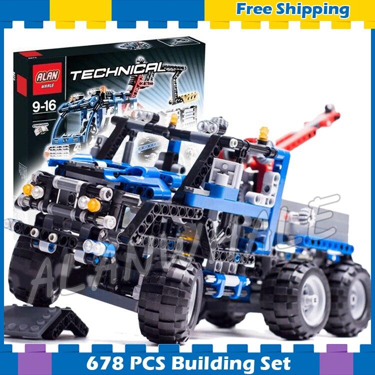 678pcs 3332 Technic Road Truck Model Building Blocks minicar diecast cars automobile miniature Boys Sets Compatible With lego automobile diagnosis equipment set for renault cars black