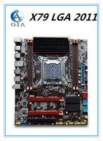 Плата новая материнская плата X79 с сильным радиатор Поддержка Ecc Оперативная память 4 * Оперативная память Слоты 32 г LGA 2011 USB3. 0 DDR3. ATX