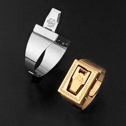 Anel de proteção de personalidade proteção invisível, cordas de corte ao ar livre, anel de auto-ajuda masculino e feminino